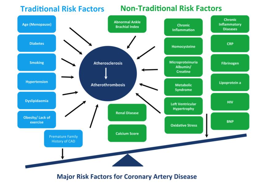 H pylori and heart disease risk factors